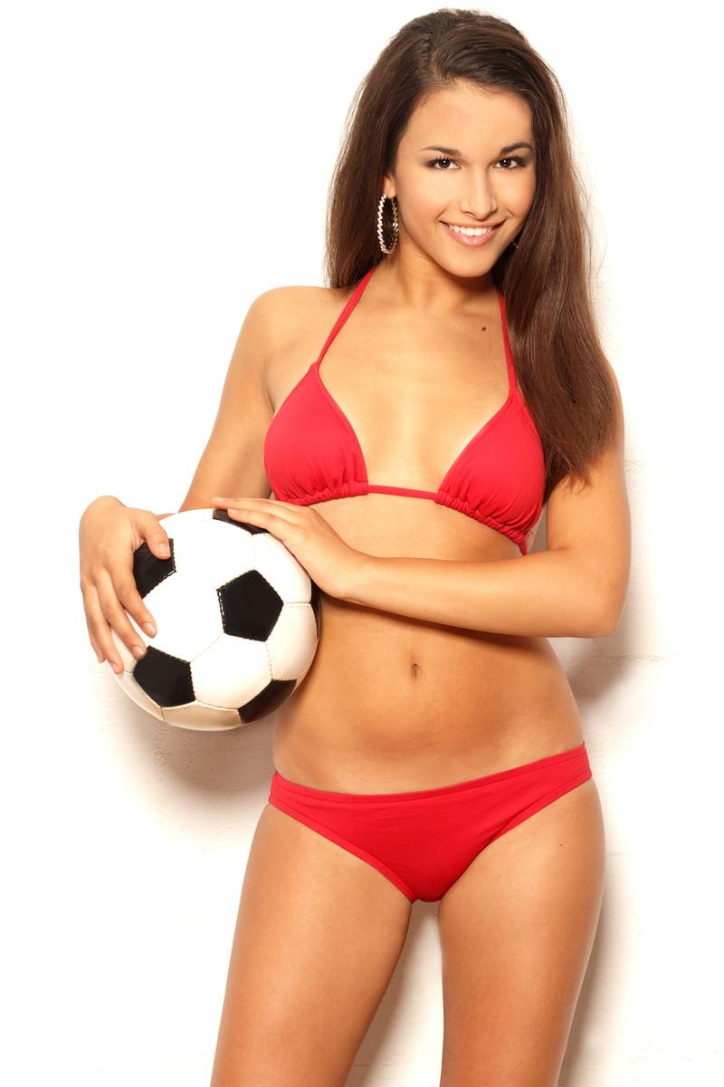 サッカー好きな美女