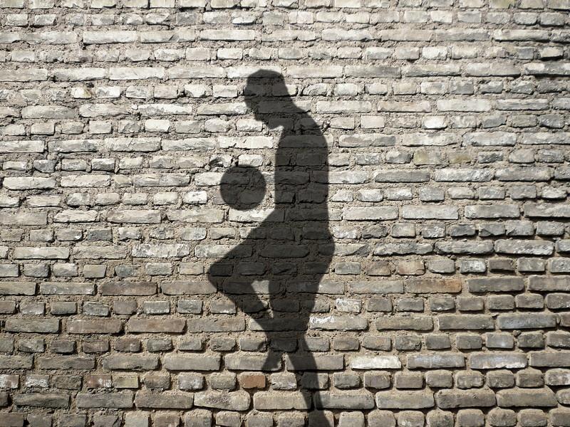 サッカー一人練習